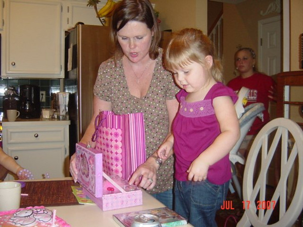 Opening presents...