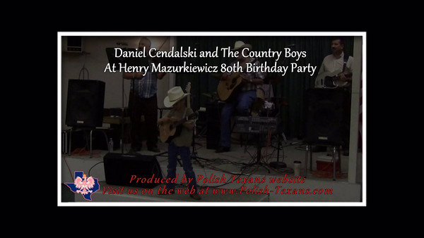Daniel Cendalski and the Country Boys playing classic Polish music at Henry Mazurkiewicz's 80th birthday party in Chappell Hill, Texas. July 17, 2010