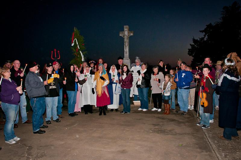 St. Stanislaus Catholic Cemetery candle light ceremony.
