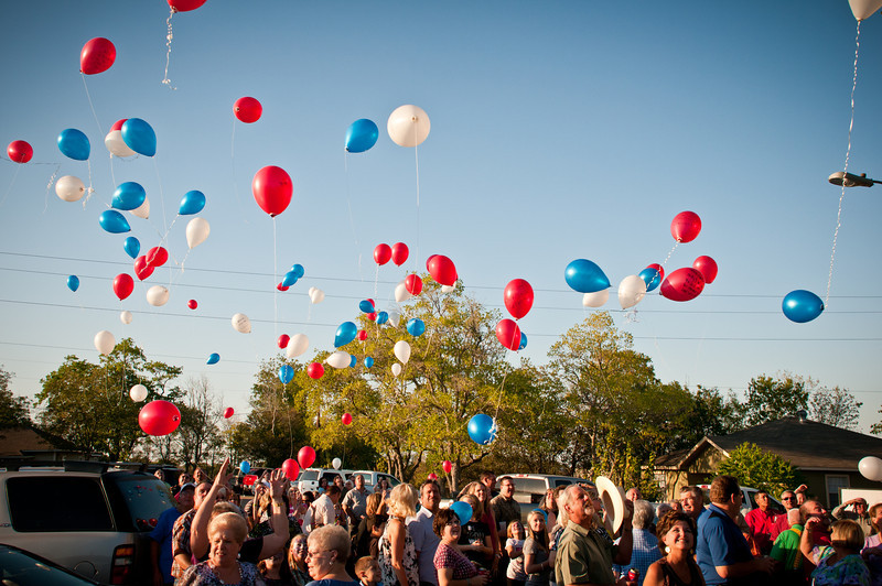 Colorful Balloons Soar Skyward In Memory Of Departed Loved Ones
