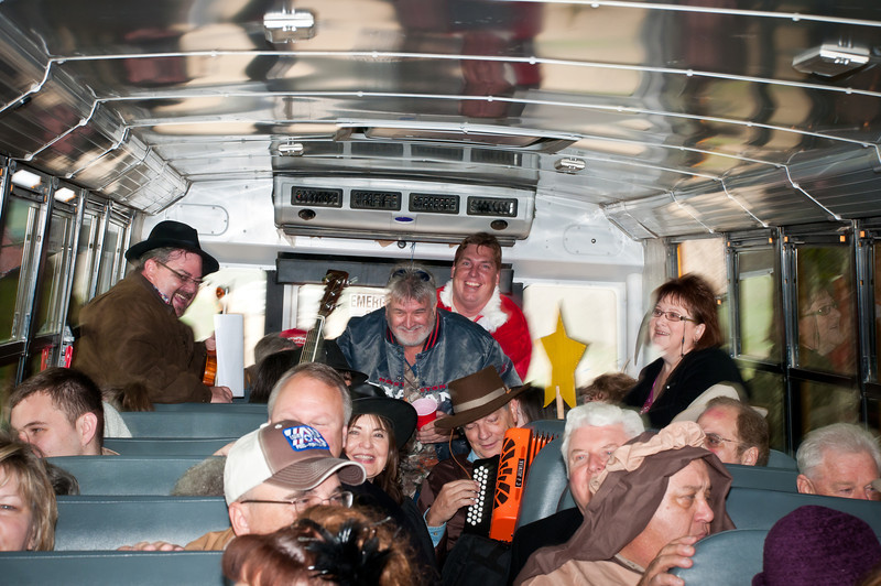 Music and fun on the big yellow bus.