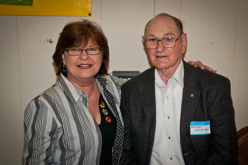 The oldest family member, Johnny Jezierski with his daughter Pat