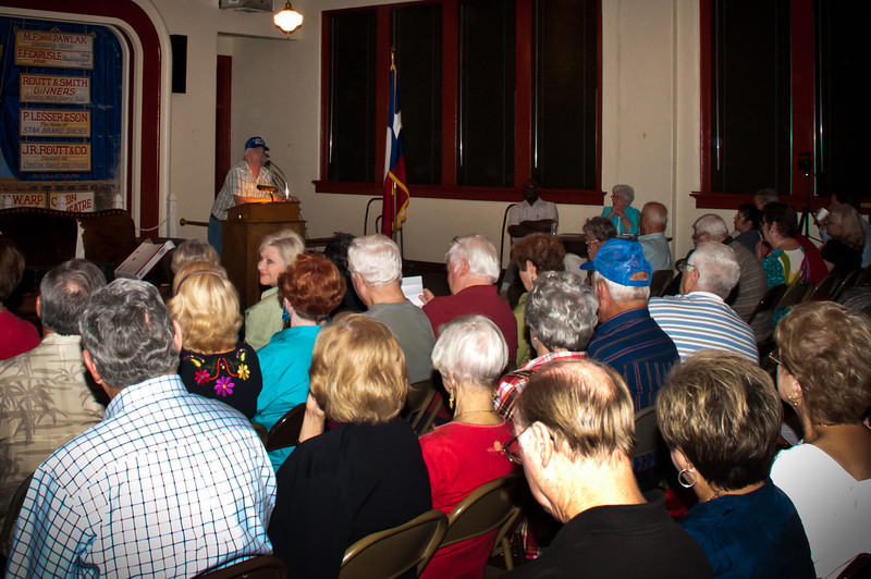 Chappell Hill Historical Society members listening to Daniel