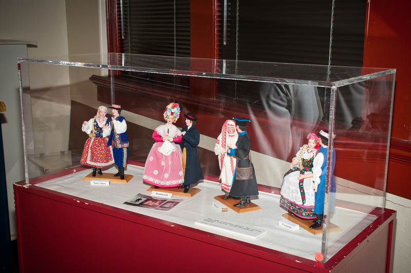 Polish folk dolls on display