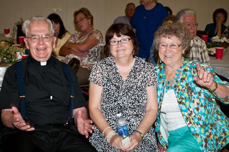 Fr. Boli Zientek having a good time at the reception
