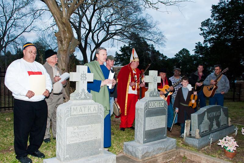 St. Stanislaus Catholic Cemetery ceremony.