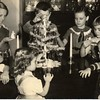 Children with a Small Christmas Tree (00034)