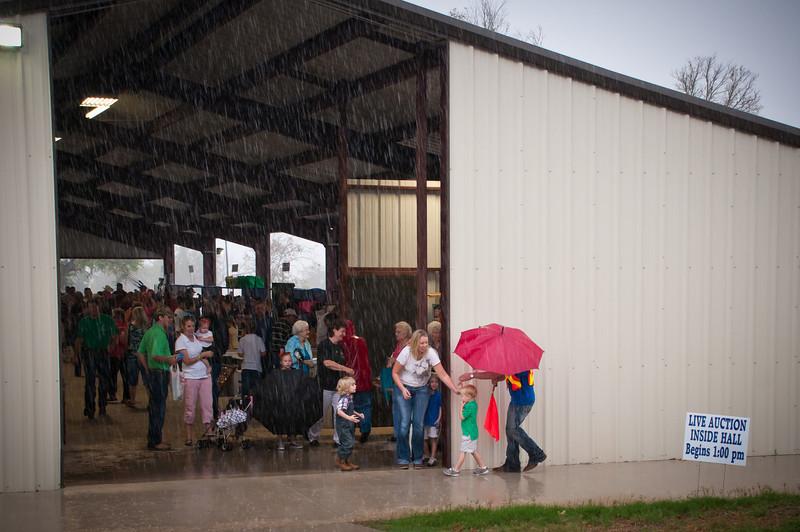 A little rain didn't stop the fun