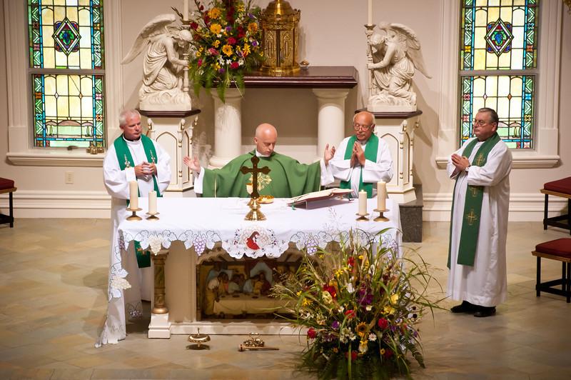 Father Waldemar Matusiak celebrates Mass with three visiting Polish priests