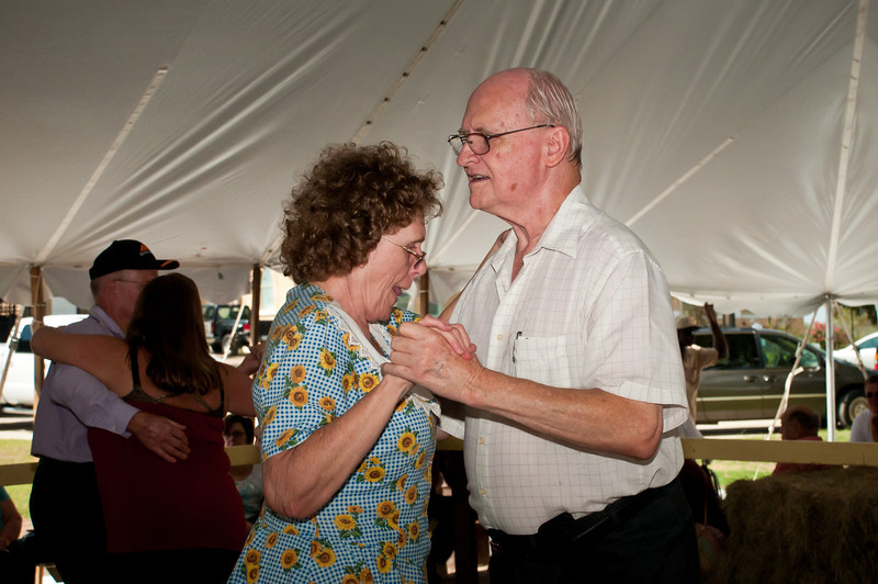 Lots of dancing on the traditional wooden dance floor inside the tent