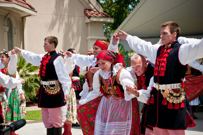 Wawel Dance Group entertains the crowd