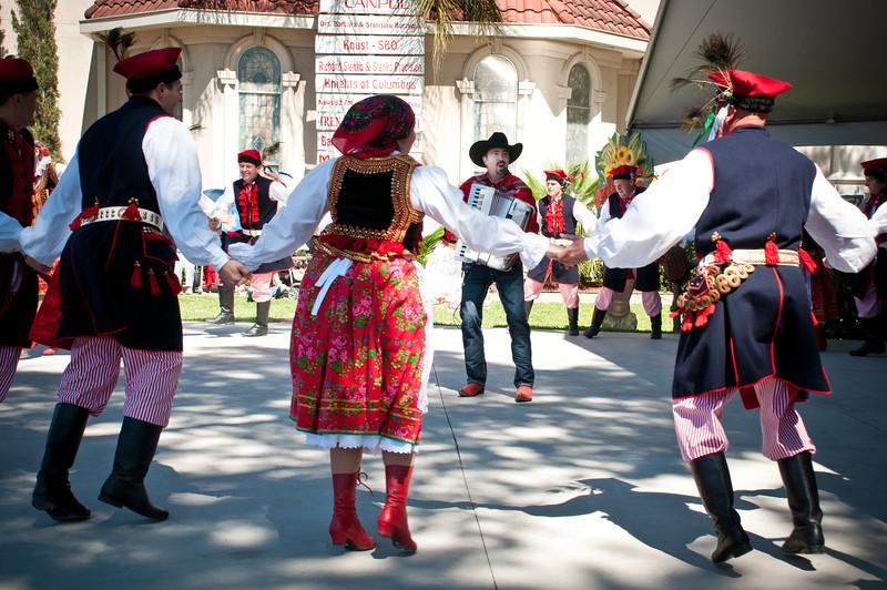 Chris Rybak with the Wawel Dance Group