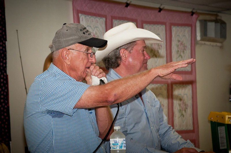 Tommy Szymczak and Randy Krueger raising money at the live auction