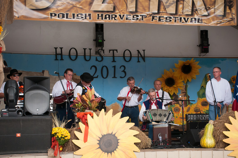 Polska Kapela band playing old time Polish Texas music on Saturday