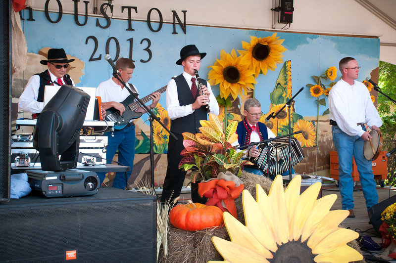 Polska Kapela band playing old time Polish Texas music on Sunday