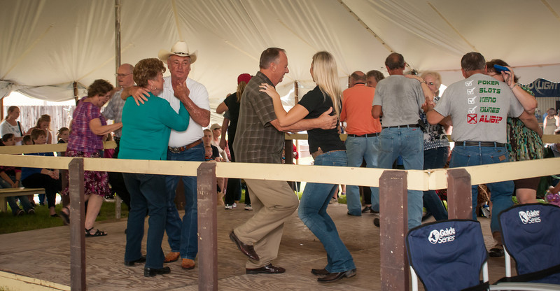 Lots of dancing on the wooden dance floor inside the tent