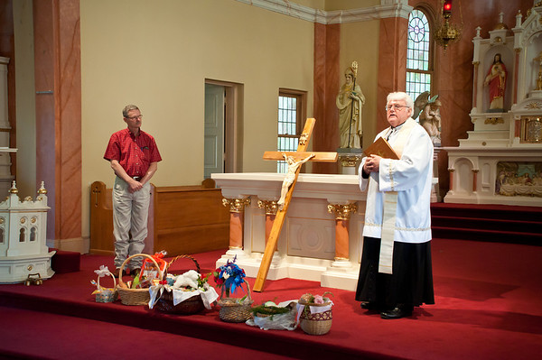 Blessing Of The Easter Baskets At St. Stanislaus in Chappel Hill