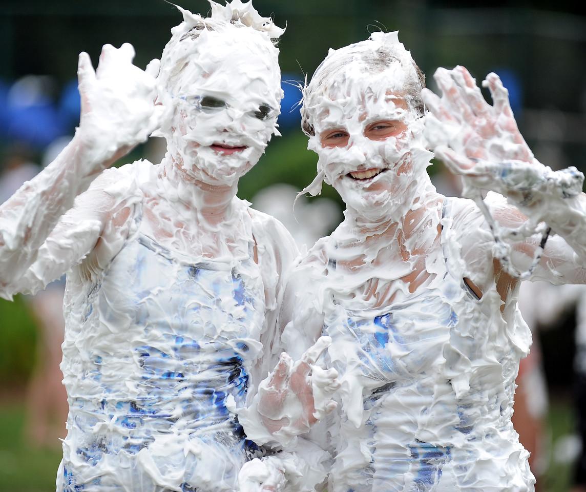 "Heritage Lakes Swim Team celebrated a successful regular season with its annual ""Cream the Coaches"". The traditional shaving cream event also kicks-off a spirited Divisionals Week for the SAIL Swim League. <br /> GWINN DAVIS PHOTOS<br /> gwinndavis@gmail.com  (e-mail) <br /> (864) 915-0411 (cell)<br /> gwinndavisphotos.com (website)<br /> Gwinn Davis (FaceBook)"