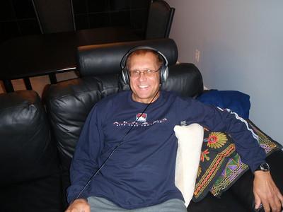 Dennis with Bose headphones (birthday gift)