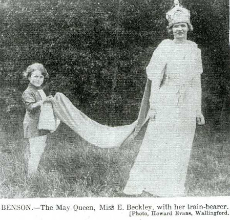 <font size=3><u> - May Queen - </u></font> (BS0100)  Miss Beckley.