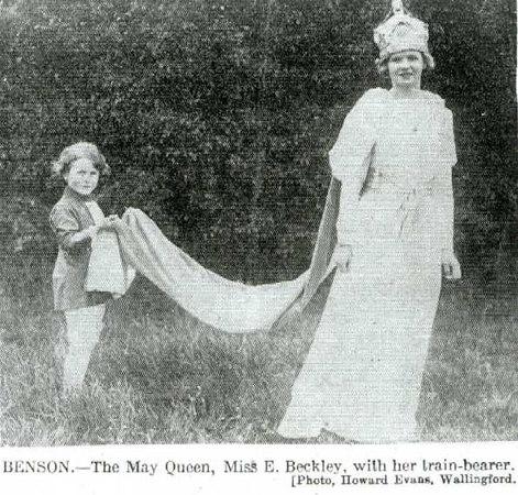 <font size=3><u> - May Queen - </u></font> (BS0100)  Miss Beckley.