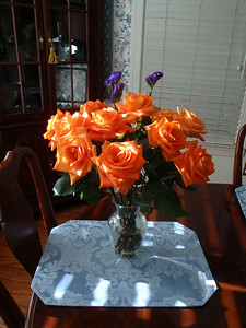 """Flowers from 1st Class Automotive for sales flyer """"model"""" job"""