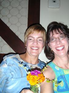 Lisa' and Jenny at Cafe Tiramisu for dinner, celebrating both our birthdays!