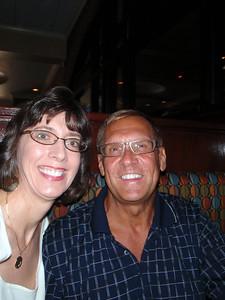 Jenny and Dennis at Tribeca Tavern for dinner celebration