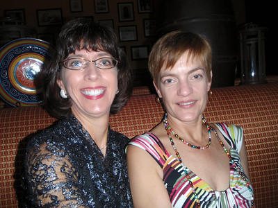 Jenny and Lisa' dining at the Posta Grille to celebrate August birthdays