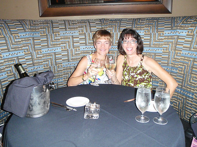 Lisa' and Jenny at 18 Seaboard for dinner