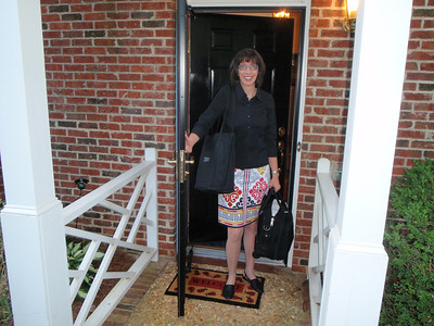 Dennis captured Jenny's last trip out the door with her briefcase and IBM tote bag.