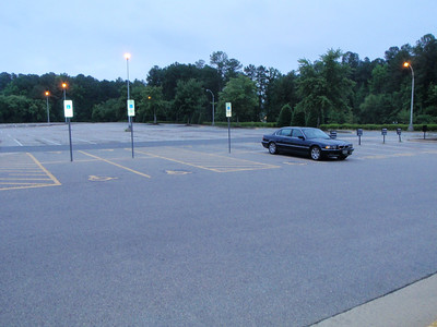 Jenny's car in the IBM Bldg 062 parking lot...as usual, the only one there at 6AM.