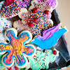 Somebody went cray-cray with the decorations on these tie-dyed Christmas cookies! Yum!