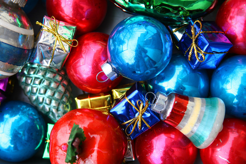 A selection of Christmas ornaments. Happy holidays!