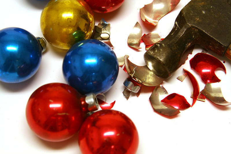 Have you had it with Christmas? Wreck the halls!
