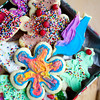 Tie-dyed Christmas cookies! Yes, they were as delicious as they look. This is how us hippies say ho ho ho.