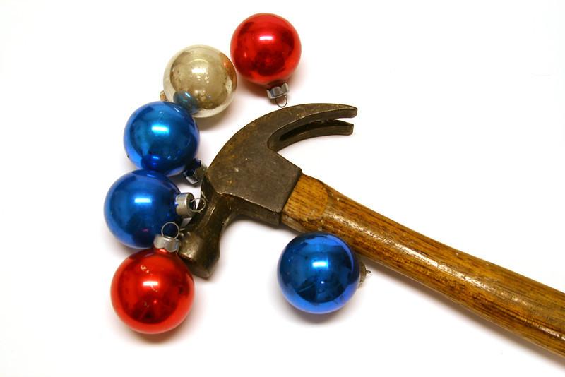 Sick of Christmas spirit? Bah humbug! Take a hammer and wreck the halls!