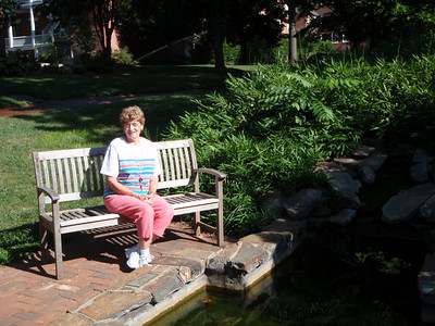 Mom at the Lily Pond