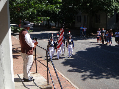 Reading of Declaration of Independence in Old Salem from the Tavern steps
