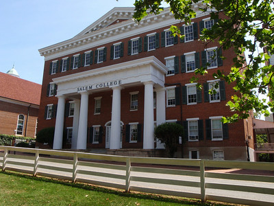 Salem College Main Hall viewed from Old Salem Square