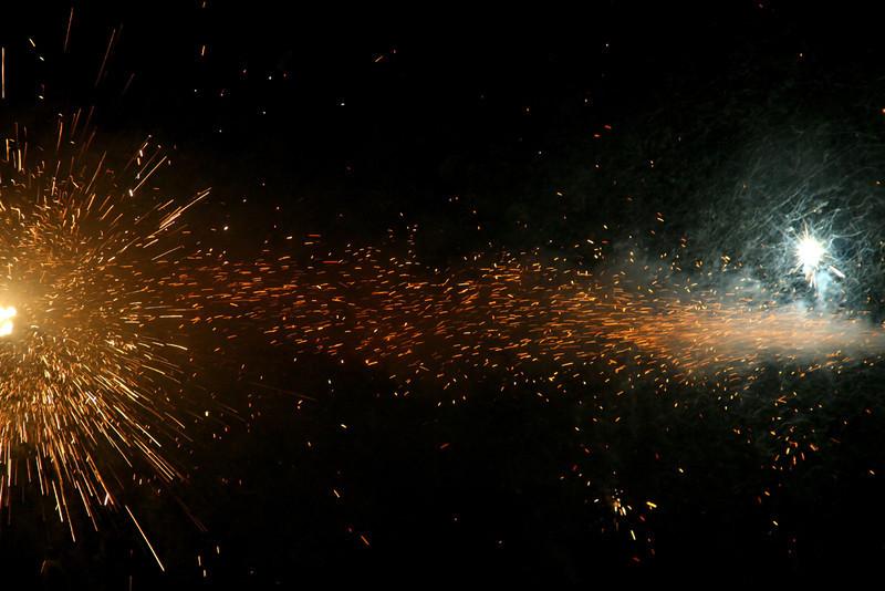 Dramatic fireworks in an unusual display.