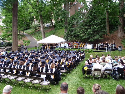 View of Salem College graduation ceremonies