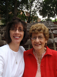 Me and Mom (self portrait!) at the Salem College May Dell before graduation