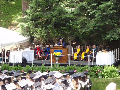 Dr. Pauly presides over the graduation ceremonies