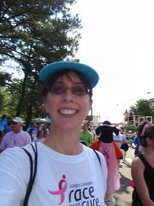 Jenny at the 5K finish line (self-portrait!)