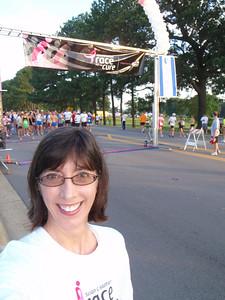 Jenny at the start line (self-portrait!)