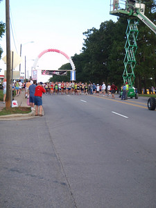 Competitive 5K race participants off and running!