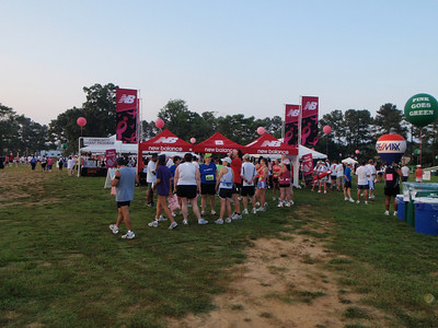 Strolling through Race Village before the 8:45AM race