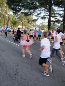 Eilie finishing the race!