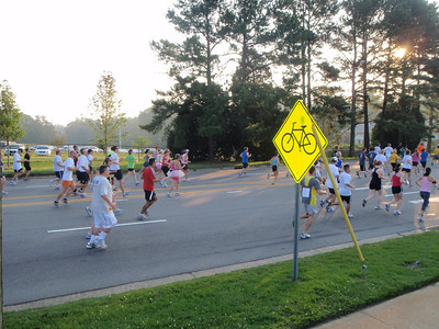 Ellie (in tutu) on her way for the 3.5K